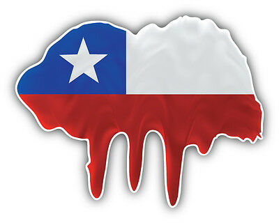 Chile Flag Butterfly Car Bumper Sticker Decal 5/'/' x 5/'/'