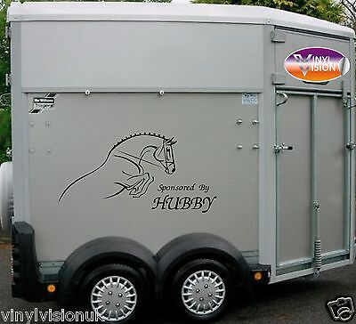 Horsebox Lorry Trailer Horse Stickers Decals Graphics Sponsored By Hubby