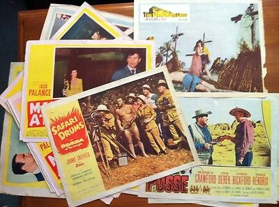 1950s LOBBY CARD LOT - 24 Cards From 9 Different Films