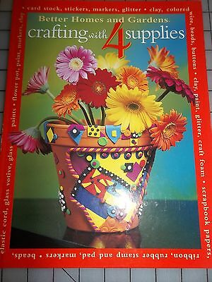 """CLAY,SCRAPBOOK,BEADS,CARDS BOOK"" Better Homes & Garden Crafting,Only 4 Supplies"
