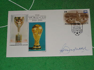 England 1966 World Cup Final Captain Bobby Moore Signed 1986 First Day Cover