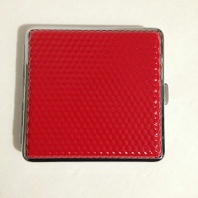 New Full Size Metal Cigarette Case Storage Pocket Box Tabacco Chrome