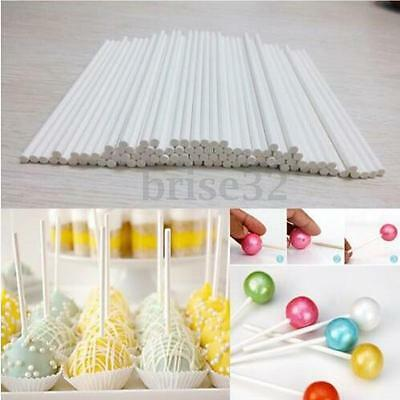"100pcs 3"" Pop Sucker Sticks Chocolate Cake Lollipop Lolly Candy Making Mould"