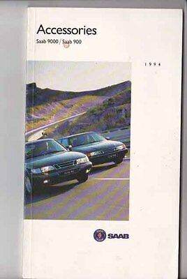 1994 SAAB 900 and 9000 ACCESSORIES International Market Brochure in English