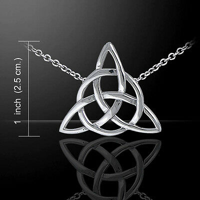 Celtic Knotwork .925 Sterling Silver Triquetra Trinity Necklace Peter Stone