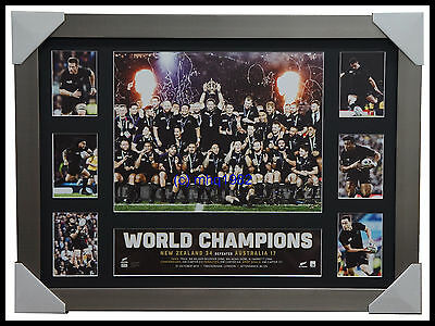 All Blacks 2015 World Cup Champions Premiergraph Tribute Silver Frame Carter