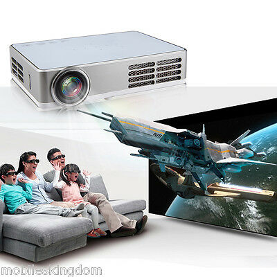 Excelvan DLP android4.4 wifi Mini Full 3D HD Proyector for Home Theater 1280*800