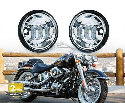 2X CREE LED 4.5'' 30W Harley Davidson Motorcycle Driving Fog Passing Light