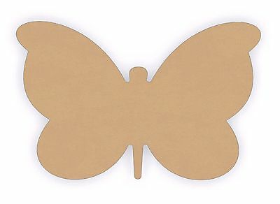 (10pc) MDF Wooden Butterfly Shapes 50mm Wood Laser Cutout Shape 3mm Thick
