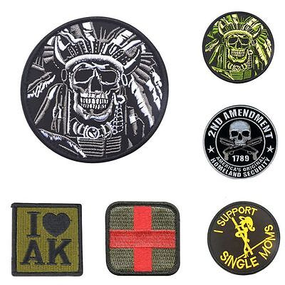 Vogue Military Tactical Skull Embroidery Retro Morale Patch Badge Armband
