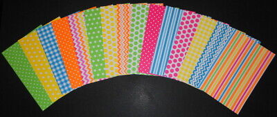 "Bright & Colourful *NEON* Scrapbooking/Cardmaking Papers - 15cm X 10cm (6"" x 4"")"