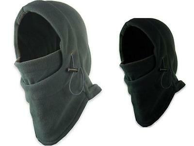 1X Mens Black Snood Fleece scarf Hood Balaclava Neck Winter Warmer Face Mask TIA