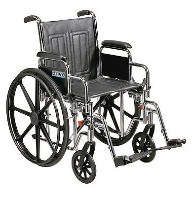 "Heavy Duty Bariatric Sentra EC Self Propel Wheelchair extra wide seat 20"" 22"" 24"
