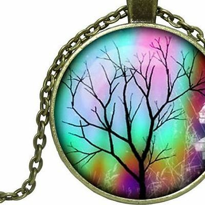 Celtic Rainbow Tree of Life Bronze Necklace, Spiritual, Universal, Metaphysical