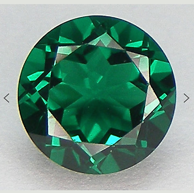 Russian Synthetic Emerald Green Nano Crystal Round AAA Loose Gemstones (1mm-7mm)
