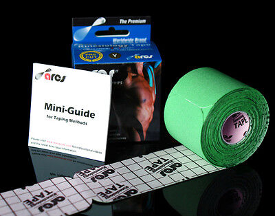 Ares Tape Precut - Green - Kinesiology Tape PRO Elastic Sports - Support KT