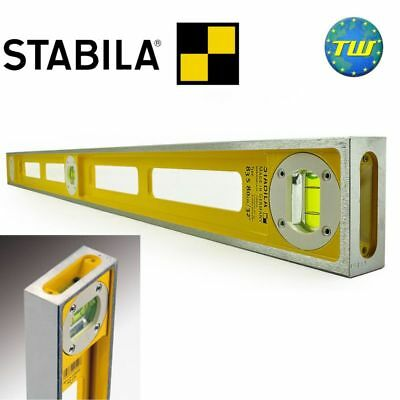 Stabila 83S 40in Double Plumb Girder Spirit Level 1000mm with 3x Vials 02546