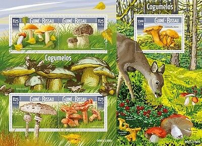 Z08 GB15702ab GUINEA-BISSAU 2015 Mushrooms MNH Set
