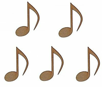 MDF Wooden Music Notes Shape Laser Cut 3mm Wood Music Note Shapes Craft Designs
