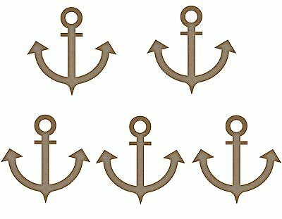 MDF Wooden Anchor Shape Laser Cut 3mm Wood Shapes Craft Designs Decorations
