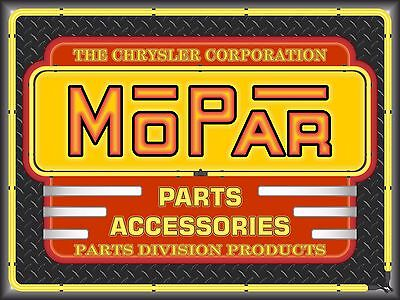 Mopar Parts Accessories Neon Style Printed Vinyl Banner Sign Garage Art 4' X 3'