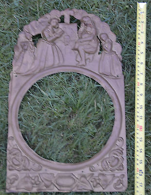 Antique French Belgian Comtoise Morbier Brass Clock Face Surround 36