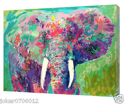 Original Oil Painting HD Print On Canvas Art Deco Wall Art,Leroy Neiman Elephant