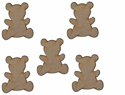 MDF Wooden Teddy Bears Shapes Laser Cut 3mm Wood Bear Shape Craft Designs