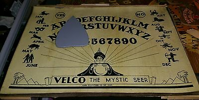 Velco the mystic seer 1945 full ouija talking board set EXTREMELY RARE