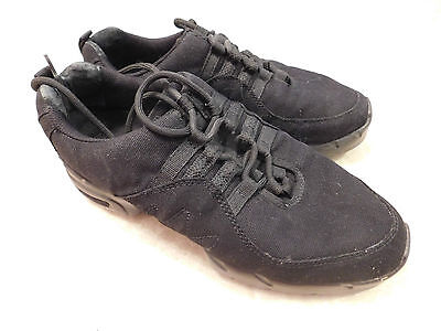 Bloch Dance Sneakers SO528L Size 10.5 Black Fabric Synthetic Textile XGUC