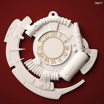 (617) STL Model Abstract Clock for CNC Router 3D Printer  Artcam Aspire Cut3d