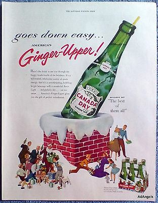 1953 Canada Dry Ginger Ale Ginger Upper Top Chimney Christmas Gifts People ad