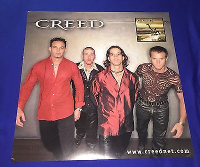 vintage 1999 Creed Human Clay 2 SIDED PROMO POSTER 24x24inch
