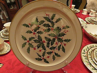 Lenox HOLIDAY China Round Serving Tray/Chop Plate/Platter ~ Excellent
