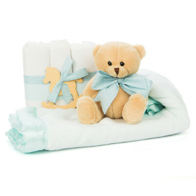 NEW Boz Cute and Cuddly Blue Baby Gift Set