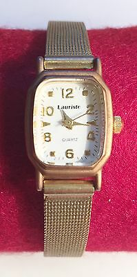 "New ""LAURISTO"" Quartz Movement Ladies Wrist Watch  Stainless Steel Back (4"