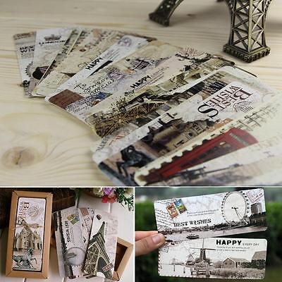 New 30Pcs European Note Pad Bookmarks Memo Label Stationery Book Mark Funny Gift