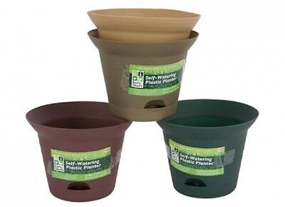 Wholesale-Resellers- 24 X SELF WATERING PLANT POT  IN 4 COLOURS
