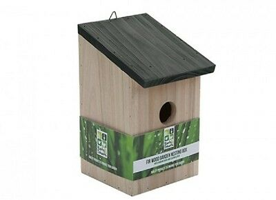 Wholesale-Resellers-24 X WOODEN FIRWOOD GARDEN  NESTING BOX