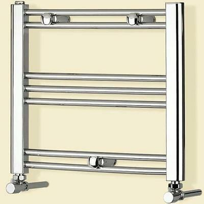 Windsor Chrome Heated Towel Rail Radiator Small Straight Flat Central Heating