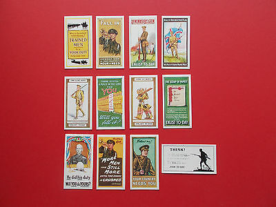 Full Set Of 12 Repro Cigarette Cards - Recruiting Posters