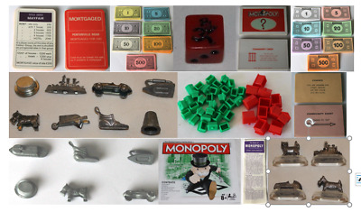 MONOPOLY BOARD GAME SPARES * Choices of pieces and versions