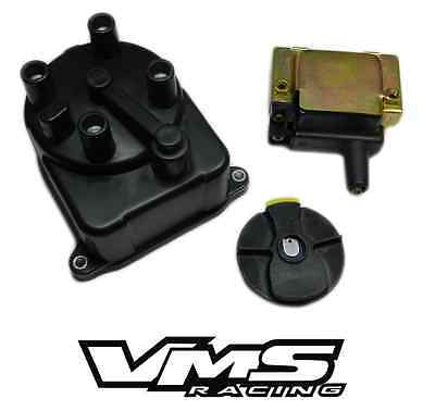 Vms Oe Replacement Distributor Cap Rotor Coil Kit For 96-00 Honda Civic D16