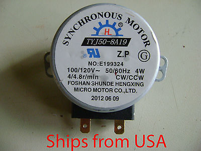 New Microwave Oven TYJ50-8A19 TYJ50-8 Turntable Turn Table Synchronous Motor