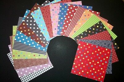"20 *ASSORTED BASICS""  Scrapbooking /Cardmaking Papers *15cm x 15cm*  (6"" X 6"")"