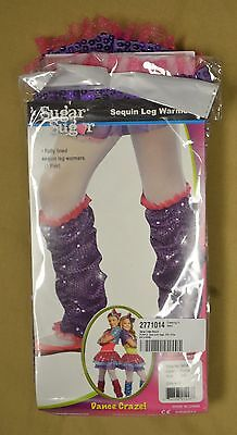 SugarSugar NWT Purple/Pink Dance Craze Sequin Dance Leg Warmers sz 0S/One Size