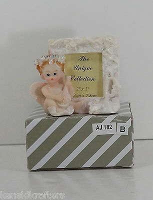 Unique Collection Beautiful Resin Baby Angel Photo Picture Frame NIB