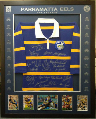 Blazed In Glory - Parramatta Legends - NRL Signed and Framed Jersey