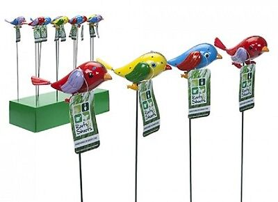 Wholesale-Resellers-24 X GARDEN BIRDS WITH MOVING WINGS  ON STAKE