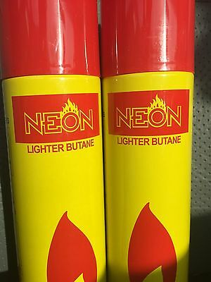 2x NEON ULTRA REFINED BUTANE GAS - FILTERED LIGHTER REFILL FUEL